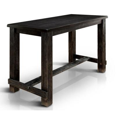 Anthus Antique Black Bar Table
