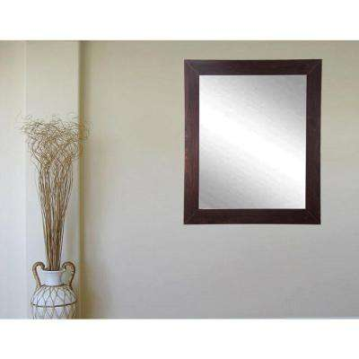 Modern Walnut Framed Mirror