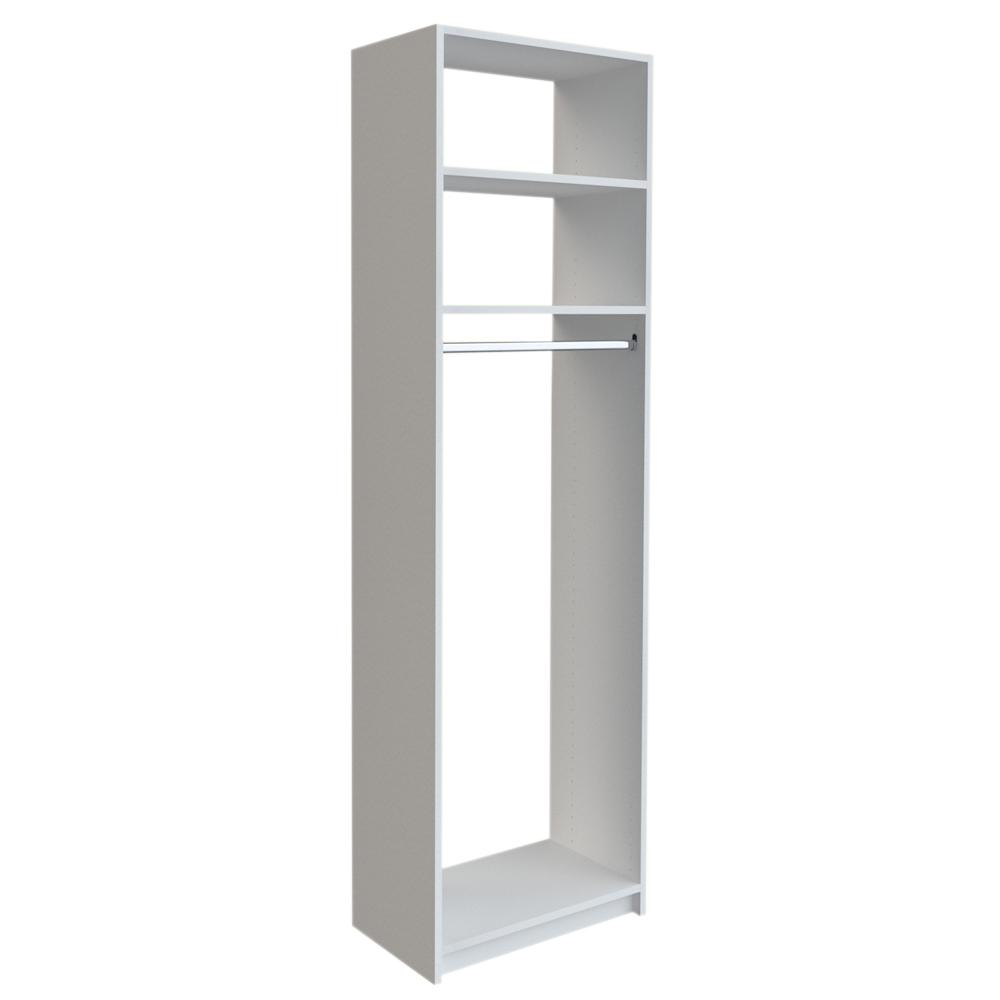 Simplyneu 14 In D X 25 375 In W X 84 In H White Medium Hanging Tower Wood Closet System Kit