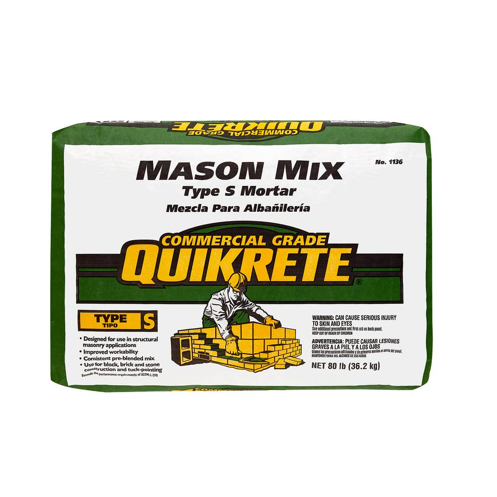 Quikrete 80 Lb Type S Mason Mix 113680 The Home Depot