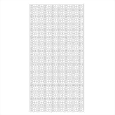 0.2 in. x 48 in. x 8 ft. White Vinyl Square Privacy Lattice