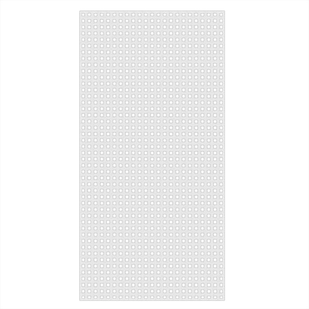 0.2 in. x 48 in. x 8 ft. White Vinyl Square Privacy Lattice