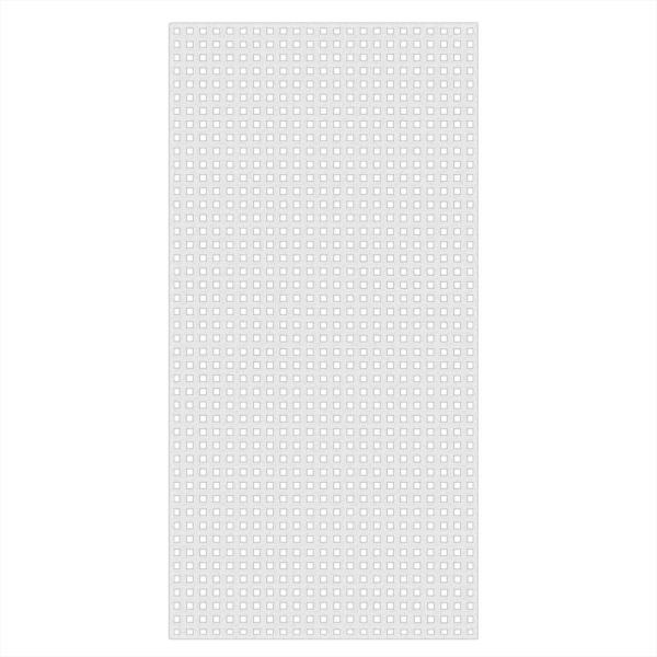 4 ft. x 8 ft. White Privacy Square Vinyl Lattice - Framed