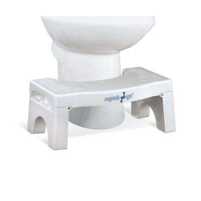 7 in. Foldable Squatting Toilet Stool in White