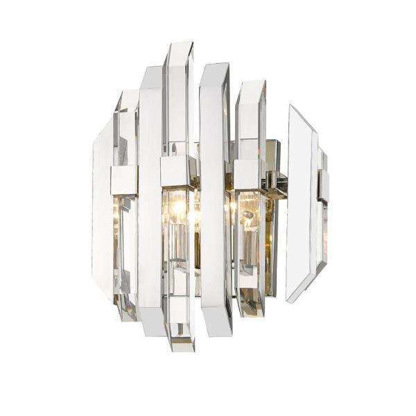11.5 in. Polished Nickel Sconce