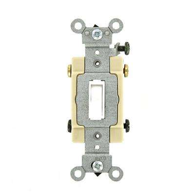20 Amp Commercial Grade 4-Way Toggle Switch, White