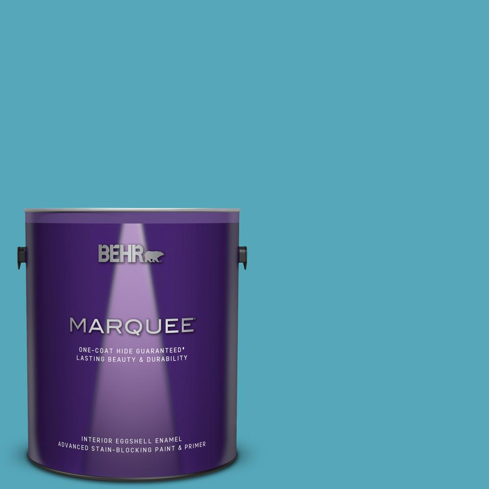 T15 11 Sonic Blue Eggshell Enamel Interior Paint And Primer In One