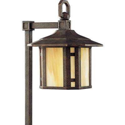Low-Voltage Arts and Crafts Collection Weathered Bronze Landscape Pathlight