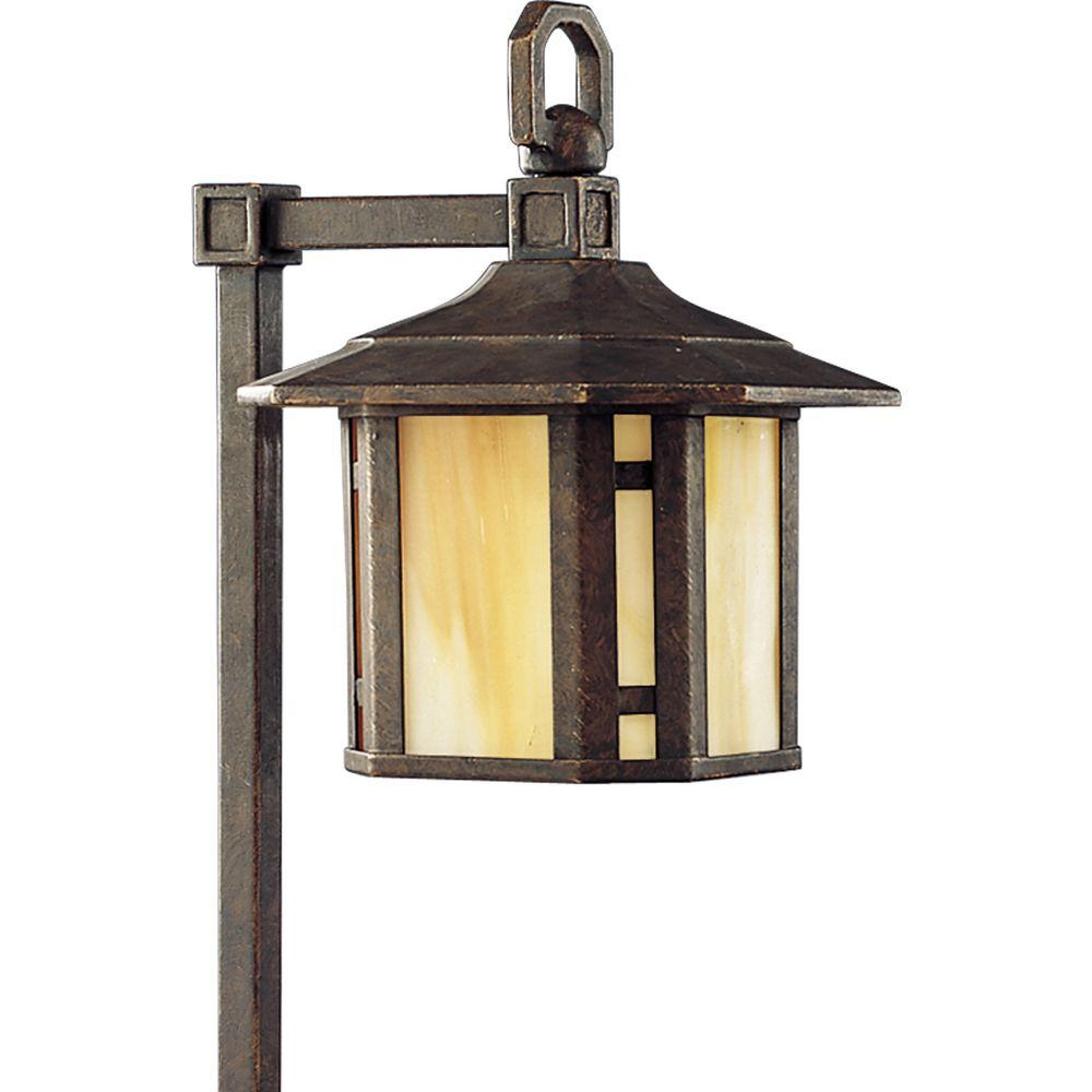 Progress Lighting Low Voltage Arts And Crafts Collection Weathered Bronze Landscape Pathlight