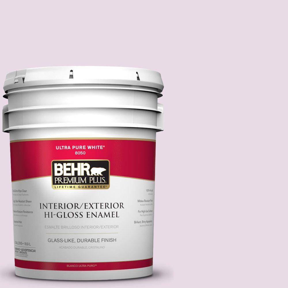 BEHR Premium Plus 5-gal. #M110-1 Twinkled Pink Hi-Gloss Enamel Interior/Exterior Paint