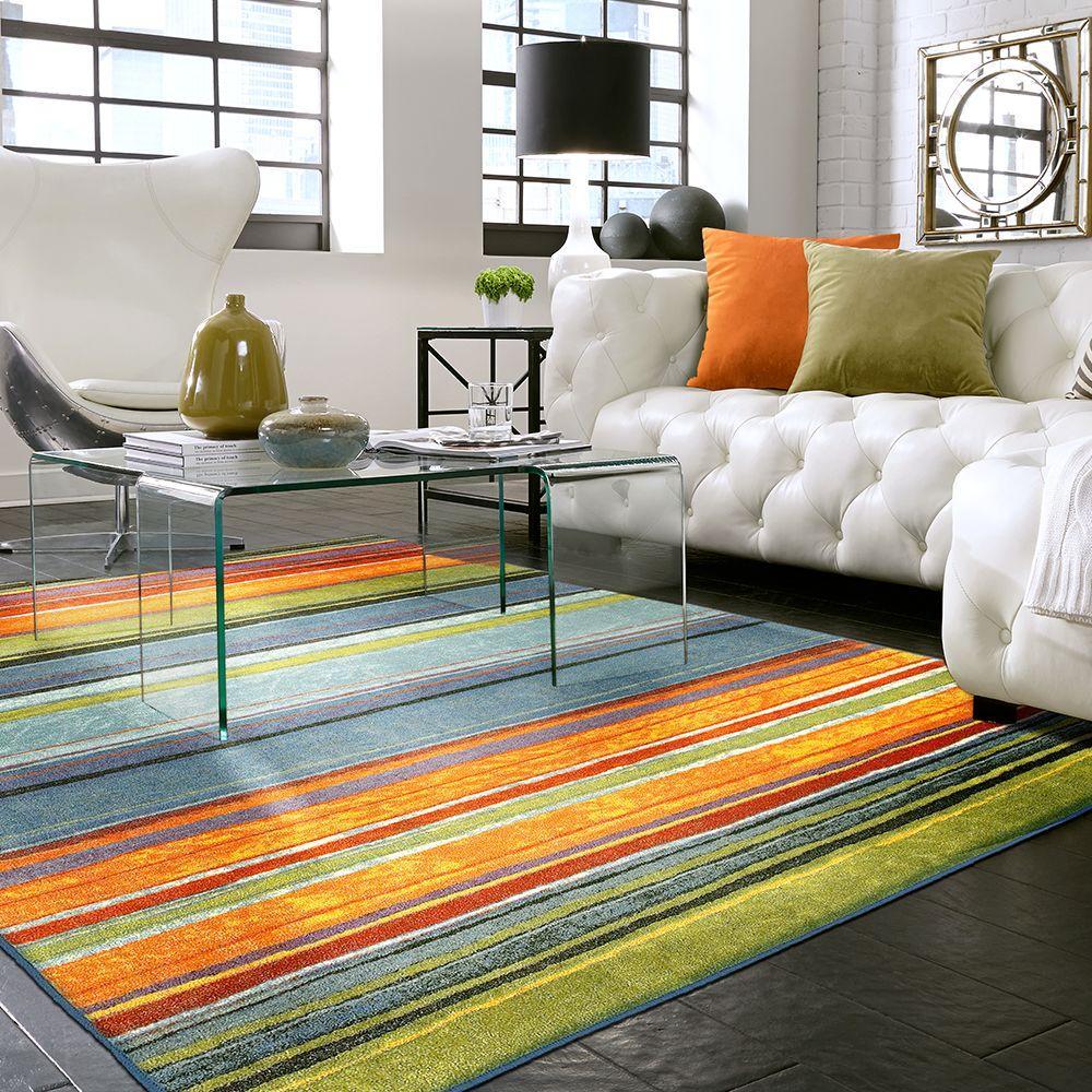 Rainbow Multi 6 ft. x 9 ft. Indoor Area Rug