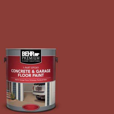 1 gal. #PPF-30 Deep Terra Cotta 1-Part Epoxy Satin Interior/Exterior Concrete and Garage Floor Paint