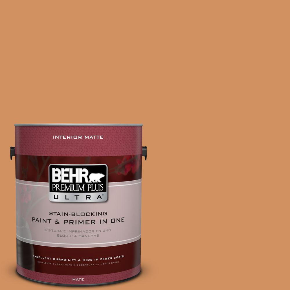 1 gal. #BIC-15 Golden Poppy Matte Interior Paint