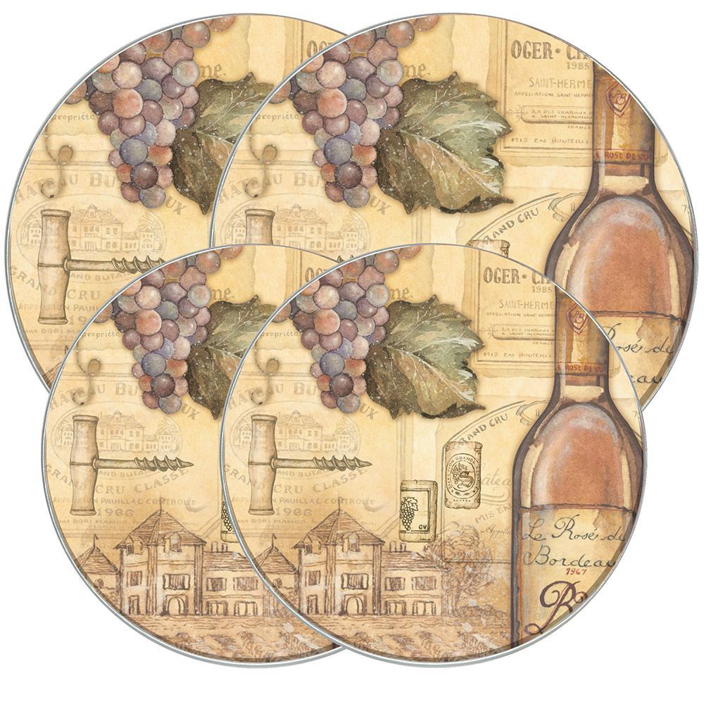 Round Burner Kovers Tuscany Wine