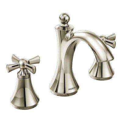 Wynford 8 in. Widespread 2-Handle High-Arc Bathroom Faucet in Polished Nickel