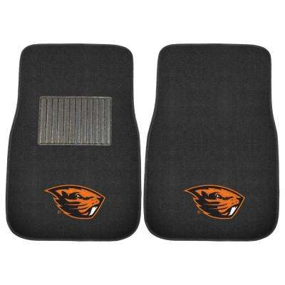 NCAA Oregon State University 17 in. x 25.5 in. 2-Piece Set of Embroidered Car Mat