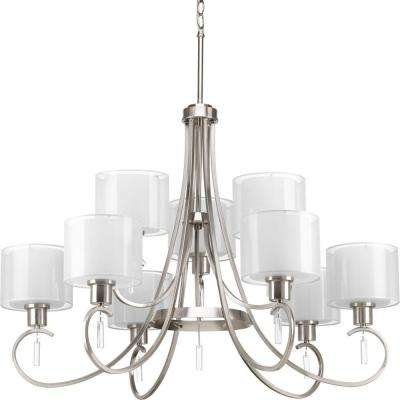 Invite Collection 9-Light Brushed Nickel Chandelier
