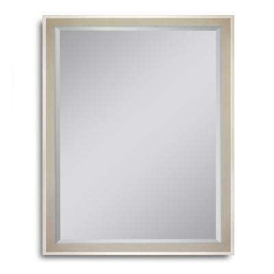 25 in. W x 31 in. H High Tower Champagne Wall Mirror