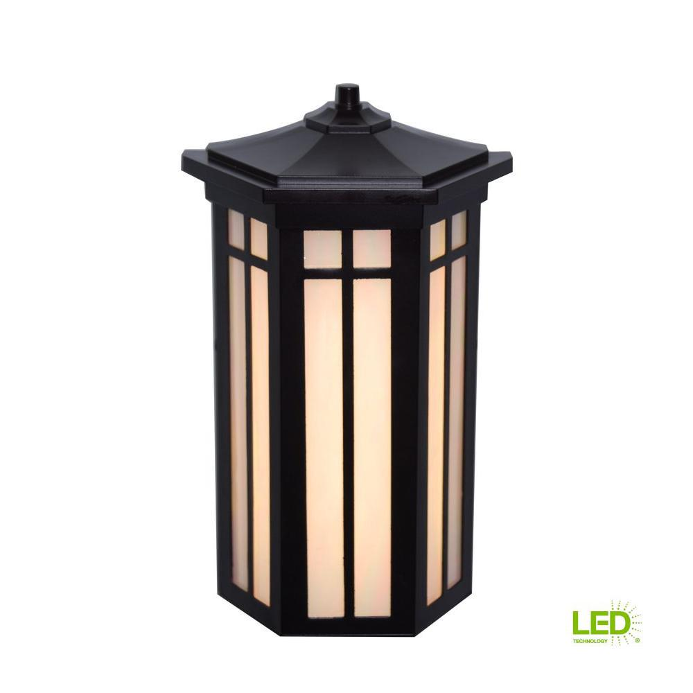 Antique Bronze Outdoor LED Pocket Wall Light