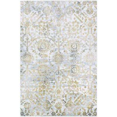 Calinda Marlowe Gold-Silver-Ivory 8 ft. x 11 ft. Area Rug