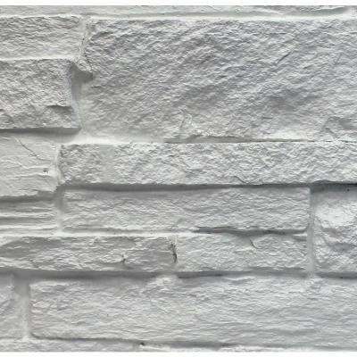 Dove White 8 in. x 8 in. x 3/4 in. Faux Mountain Ledge Stone Sample