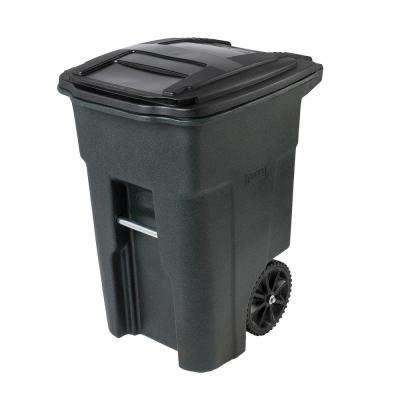 Admirable 48 Gal Greenstone Trash Can With Wheels And Attached Lid Interior Design Ideas Gentotthenellocom