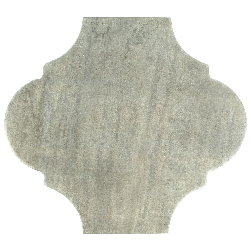 MerolaTile Merola Tile Fusion Provenzal Iron 10-3/8 in. x 11-3/8 in. Porcelain Floor and Wall Tile, Iron / Low Sheen