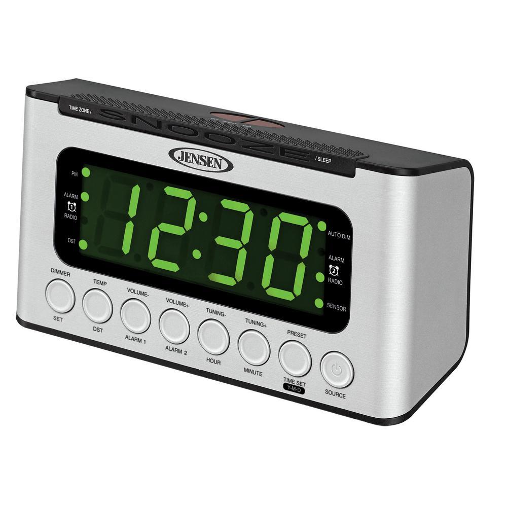 JENSEN AM and FM Digital Dual Alarm Clock Radio with Wave Sensor by JENSEN