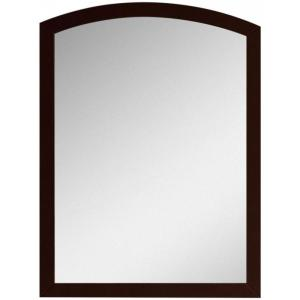 16-Gauge-Sinks 23.62 in. x 31.5 in. Single Framed Wall Mirror in Lacquer-Stain Coffee