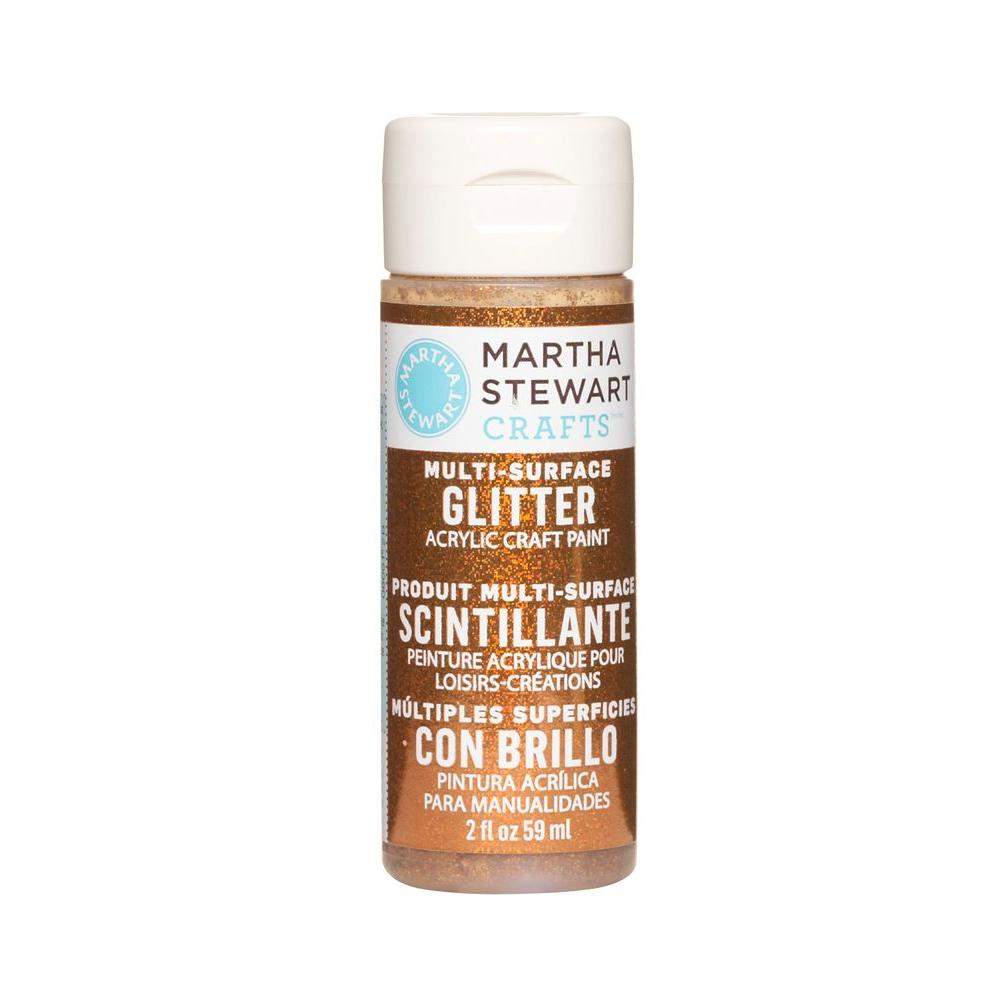 Martha Stewart Crafts 2-oz. Fire Opal Multi-Surface Glitter Acrylic Craft Paint