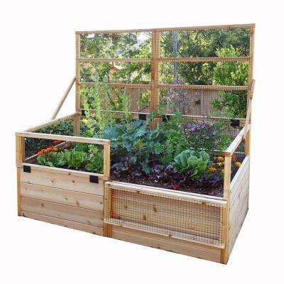 6 ft. x 3 ft. Raised Garden Bed with Trellis Lid