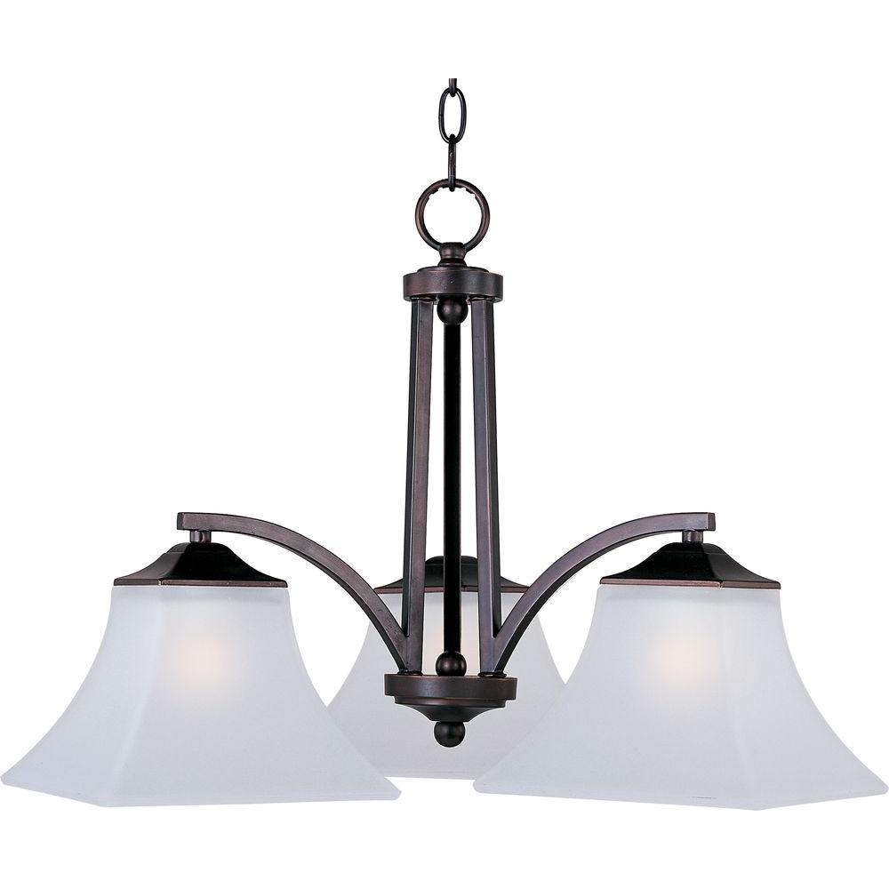 Aurora 3-Light Oil-Rubbed Bronze Chandelier