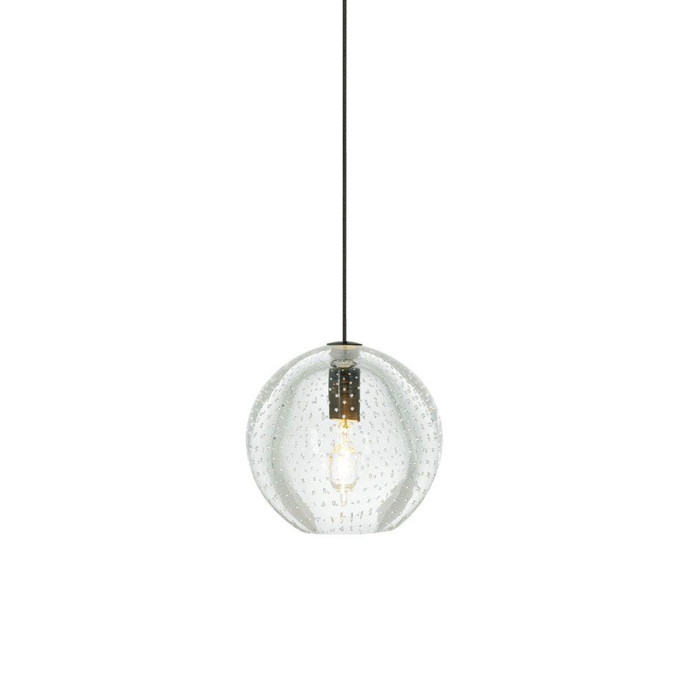 Bulle 1-Light Clear Bronze Hanging Mini Pendant