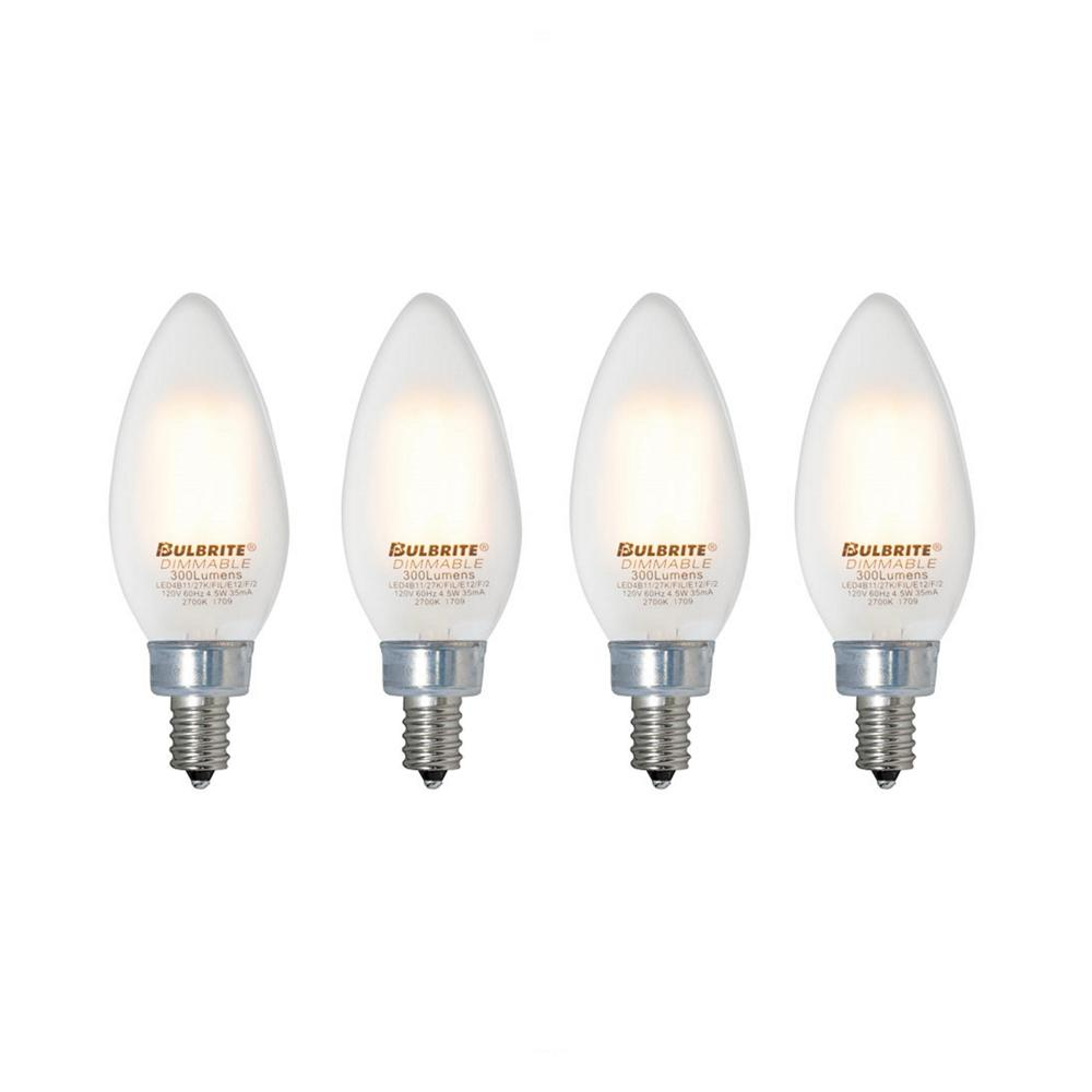 Bulbrite 40w Equivalent Warm White Light A19 Dimmable Led: Bulbrite 40W Equivalent Warm White Light B11 Dimmable LED