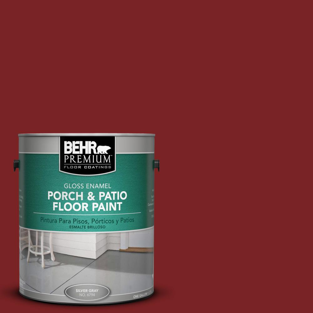BEHR Premium 1 gal. #SC-112 Barn Red Gloss Interior/Exterior Porch ...