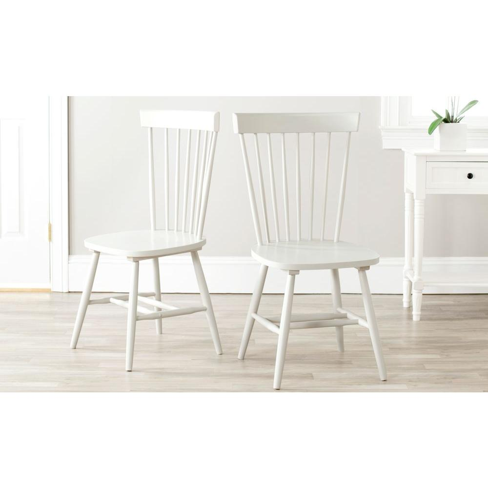 Riley Off-White Wood Dining Chair (Set of 2)