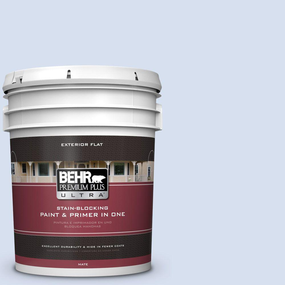 BEHR Premium Plus Ultra 5-gal. #580A-2 Icy Bay Flat Exterior Paint