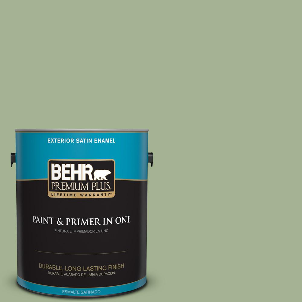 1 gal. #PPU11-06 Willow Grove Satin Enamel Exterior Paint