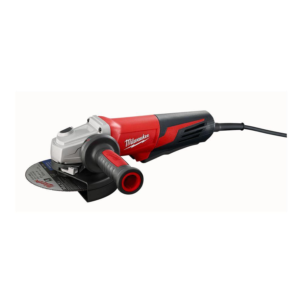 Milwaukee 13 Amp 6 in. Small Angle Grinder with Paddle Switch