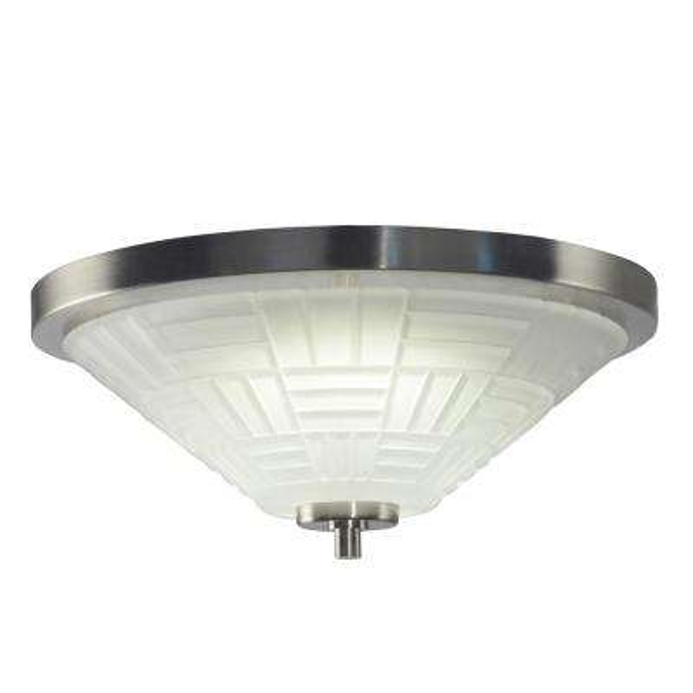 Houston 18-Watt Satin Nickel Integrated LED Ceiling Flushmount