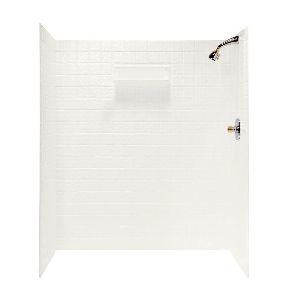 SWAN 36 in. x 64.8 in. x 71.6 in. 5-Piece Square Tile Eas...