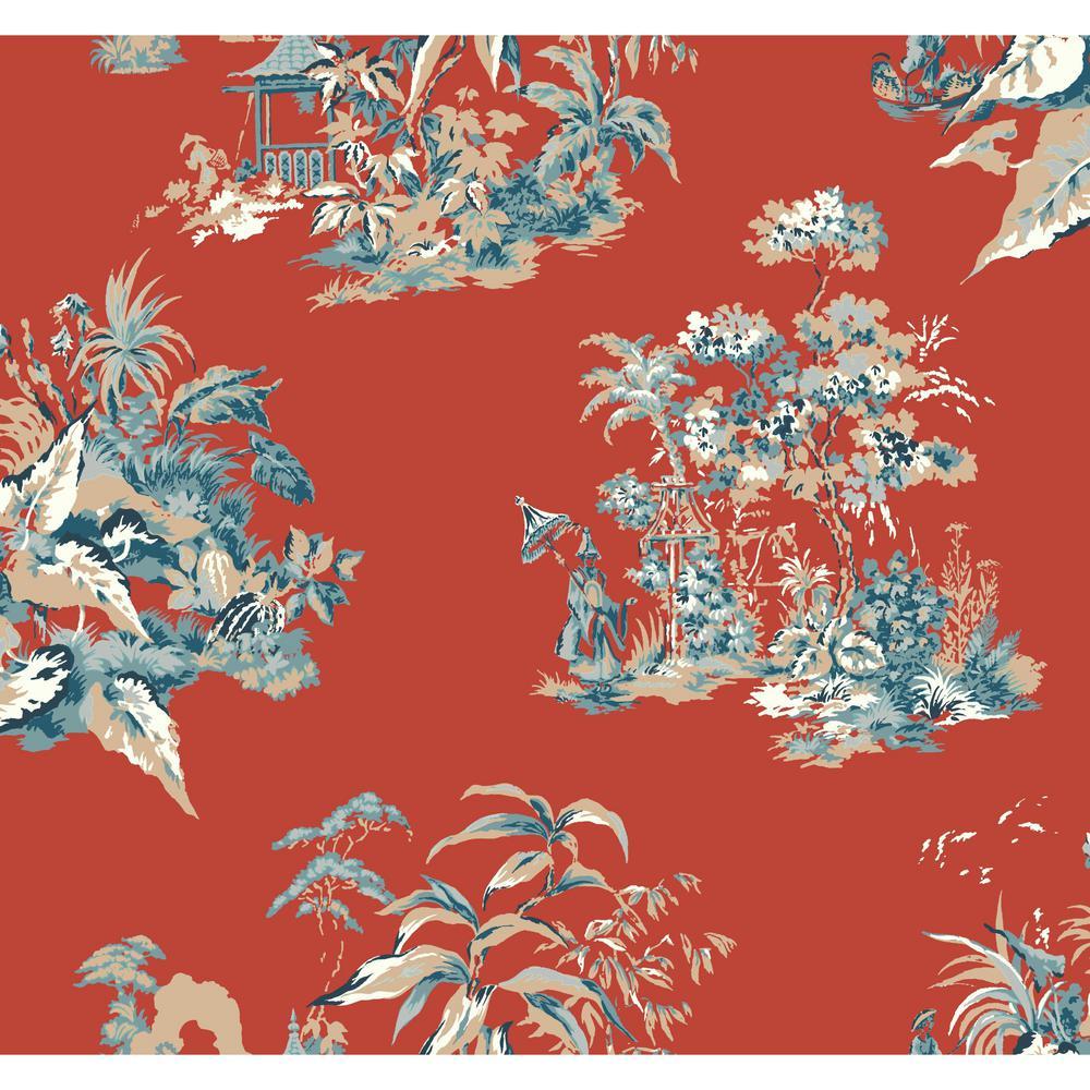 Ashford Toiles Oriental Scenic Wallpaper