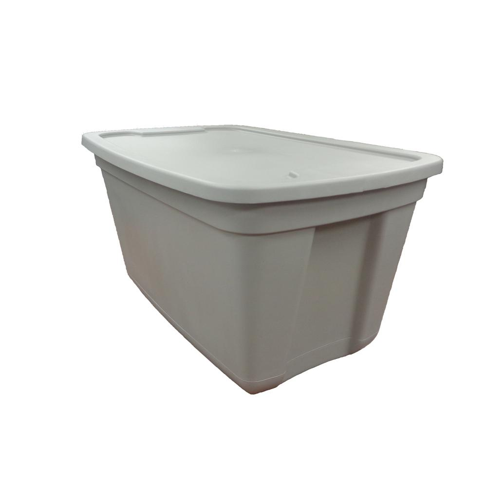 HDX 20 Gal. Storage Tote in Grey