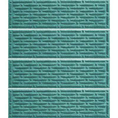 Aquamarine 8.5 in. x 30 in. Mesh Stair Tread Cover (Set of 4)