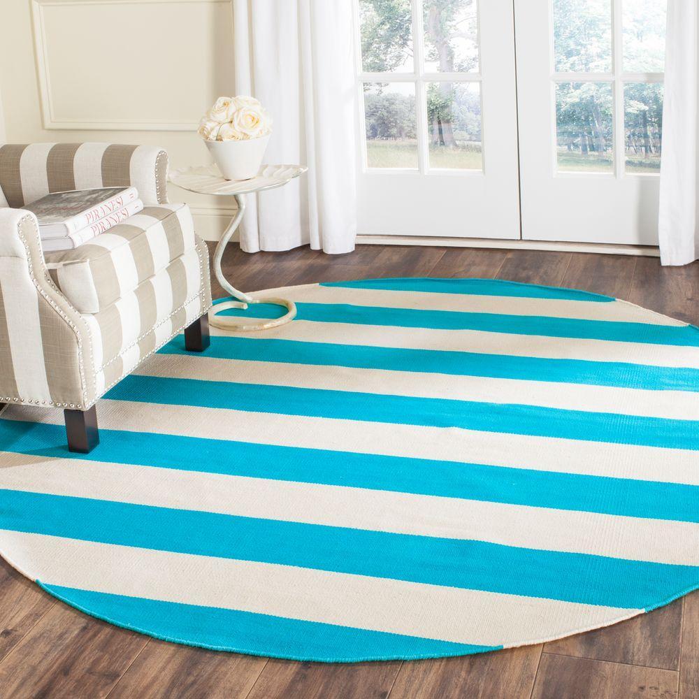 Turquoise Area Rug Amazon Com: Safavieh Montauk Turquoise/Ivory 6 Ft. X 6 Ft. Round Area