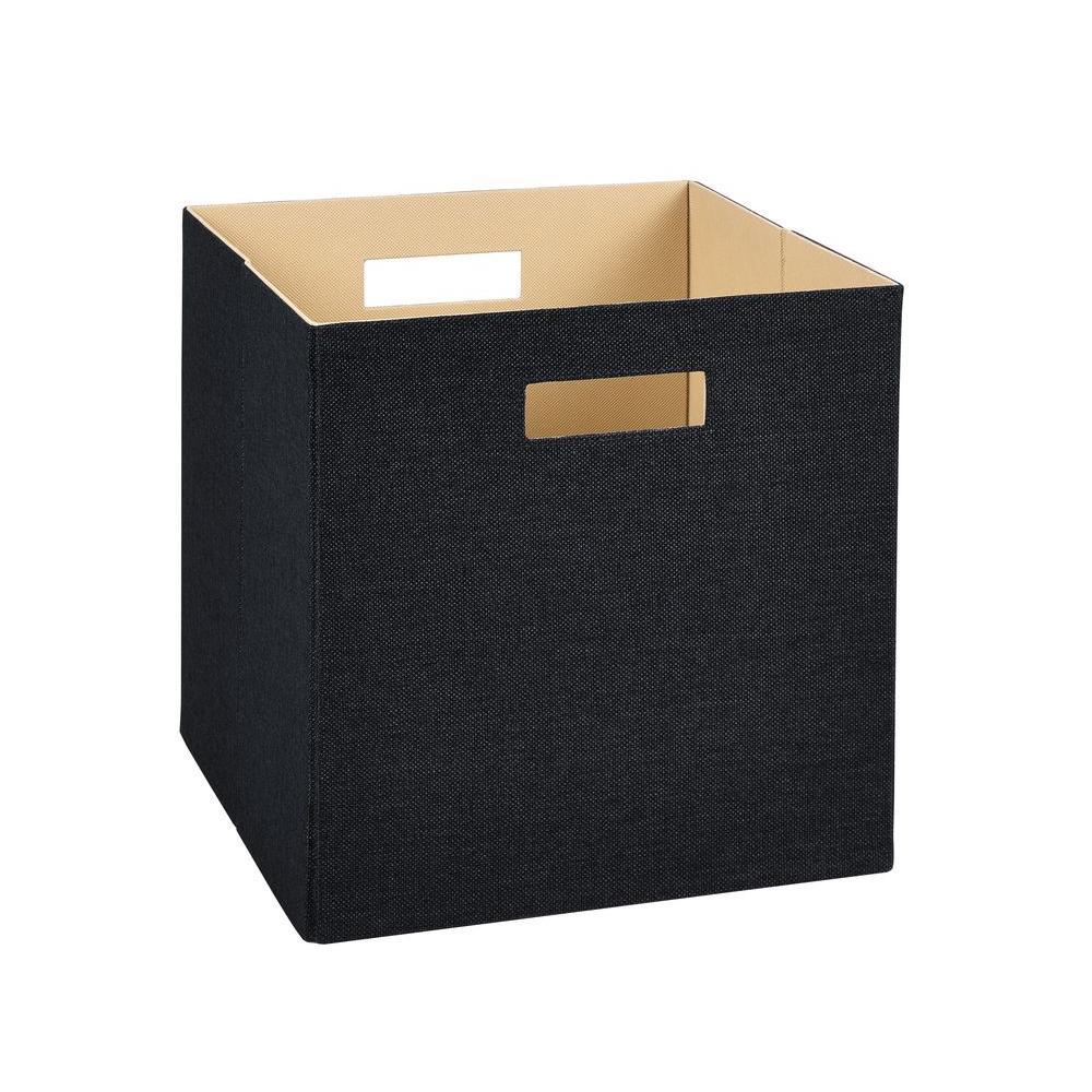 ClosetMaid 13 in. H x 13 in. W x 13 in. D Decorative Fabric Storage Bin in Black