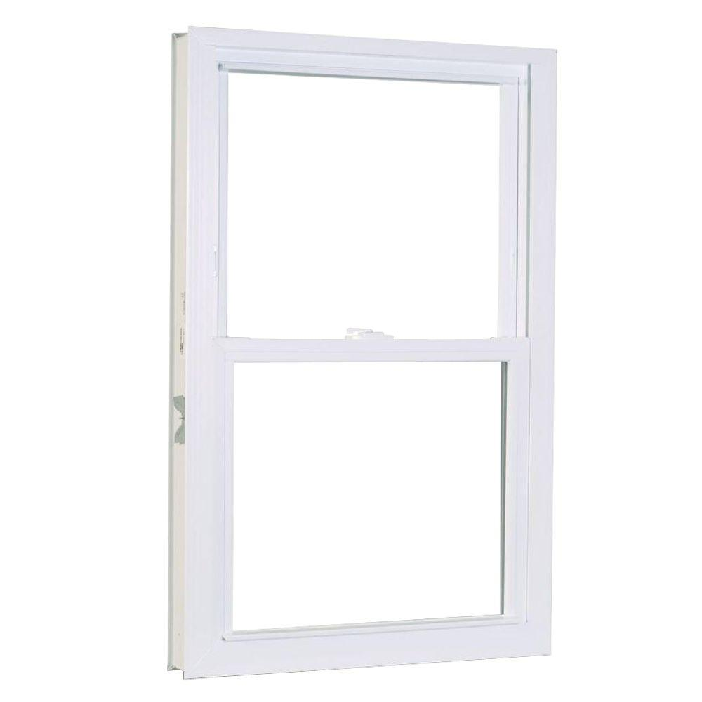 31.75 in. x 37.25 in. 1200 Series Double Hung Buck Vinyl