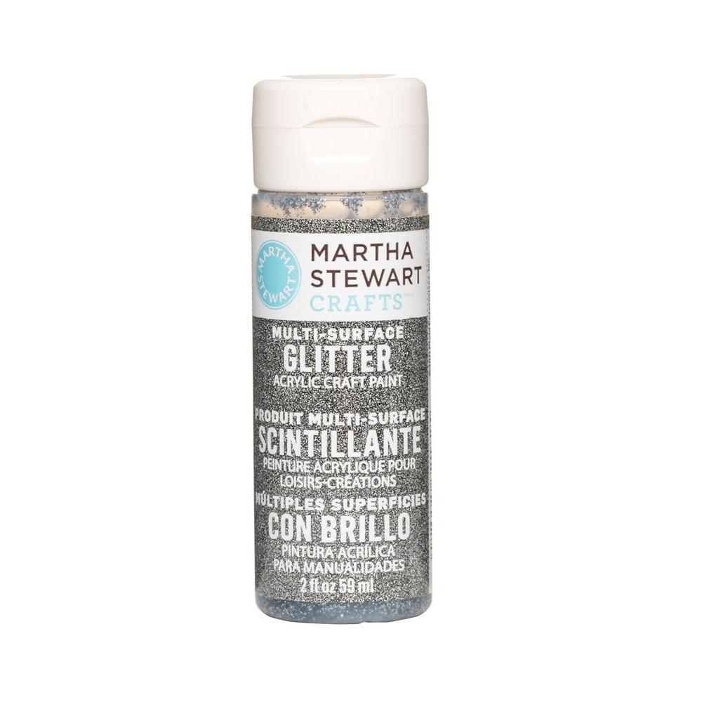 Martha Stewart Crafts 2-oz. Obsidian Multi-Surface Glitter Acrylic Craft Paint