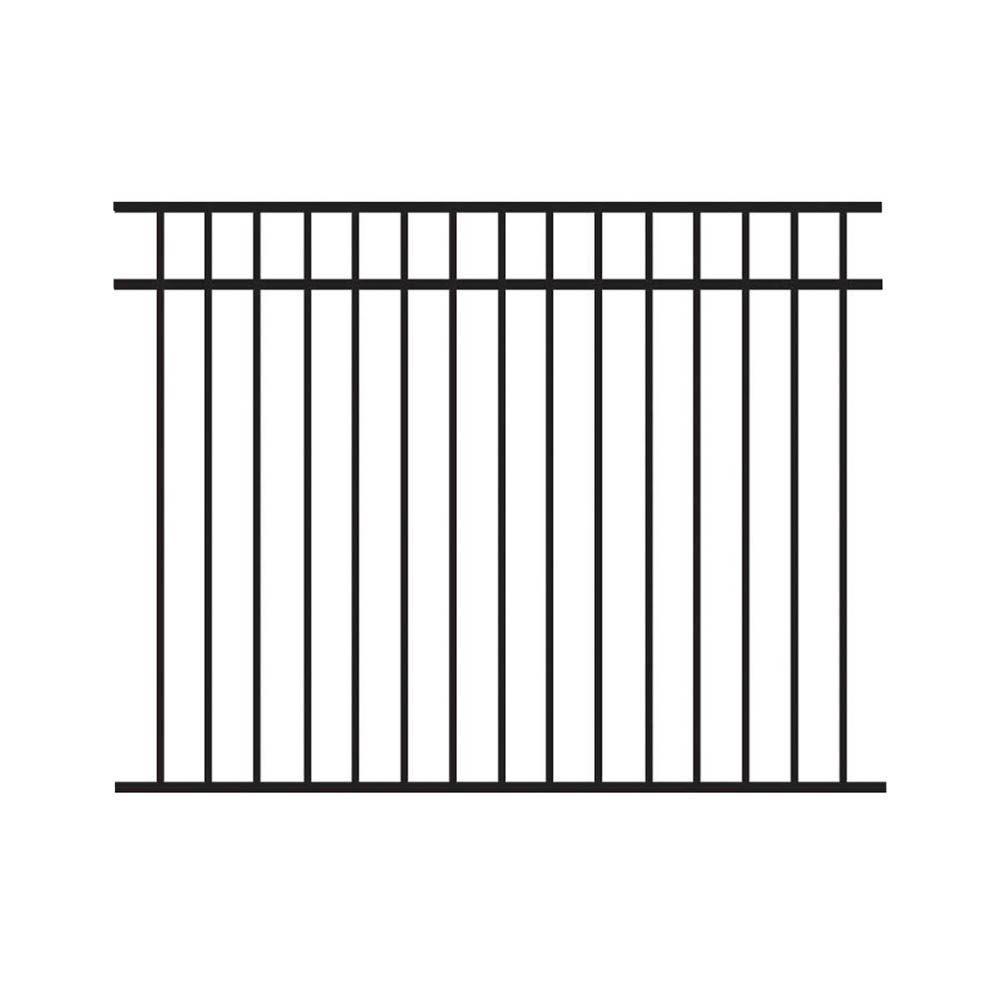 Barrette 4.5 ft. H x 6 ft. W 3-Rail Flat Top Aluminum Fence Kit (Not Assembled)