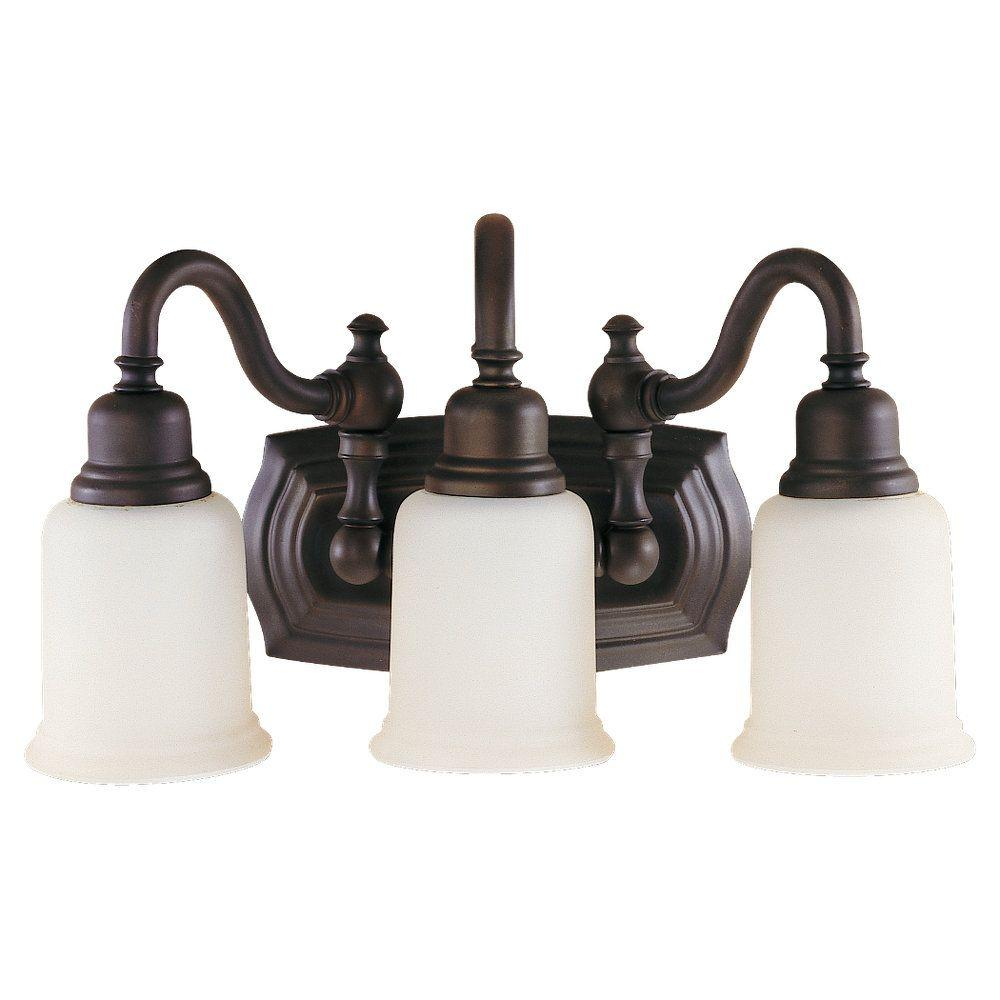 Feiss Canterbury 3-Light Oil Rubbed Bronze Vanity Light-VS8003-ORB - The  Home Depot